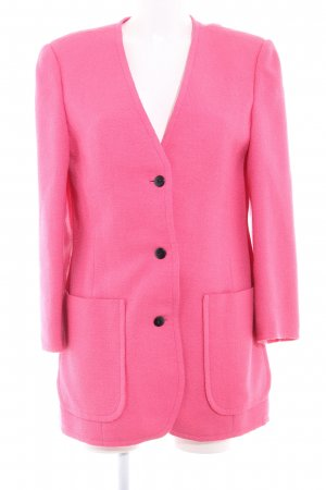 Blazer largo rosa look casual