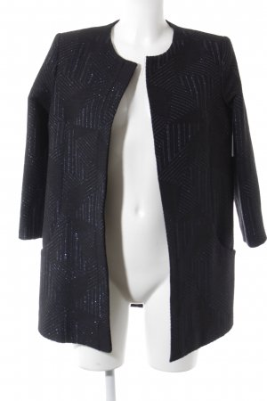 Blazer largo negro-azul estampado gráfico estilo «business»