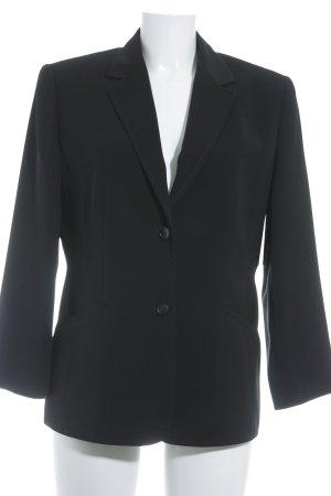 Long-Blazer schwarz Business-Look