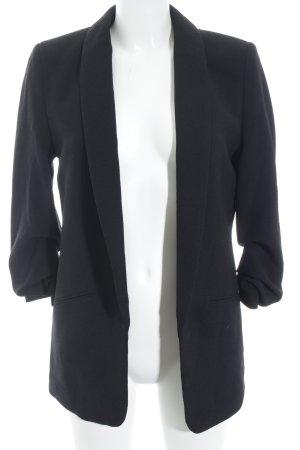 Lange blazer zwart zakelijke stijl