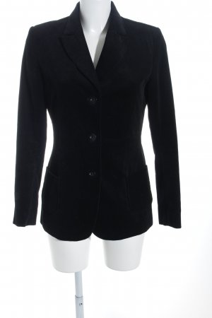 Long-Blazer schwarz Business-Look