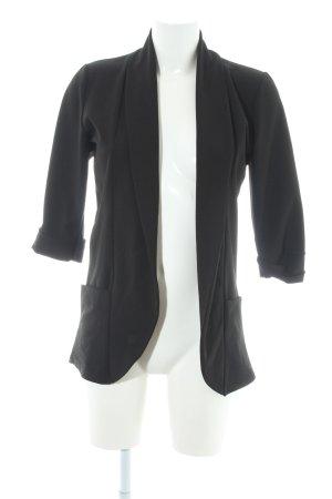 Blazer largo negro estilo «business»