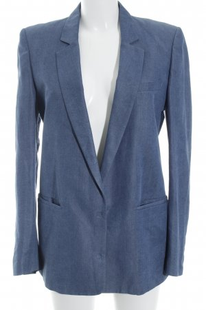 Long-Blazer stahlblau Casual-Look
