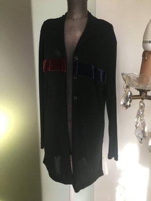 Long Blazer Tunika Gr 40 M Stretch Von Verse, schwarz