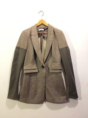 Laurèl Blazer en laine marron clair-blanc cassé