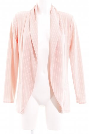 Long-Blazer weiß-rosé Nadelstreifen Business-Look
