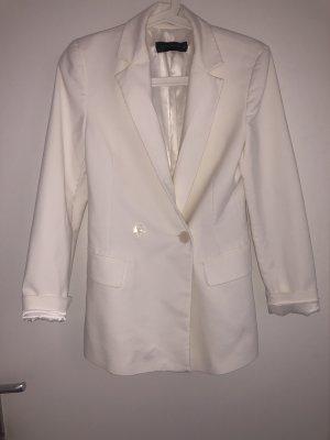 Zara Long Blazer white