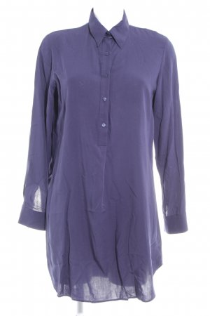 Long-Bluse dunkelblau Casual-Look