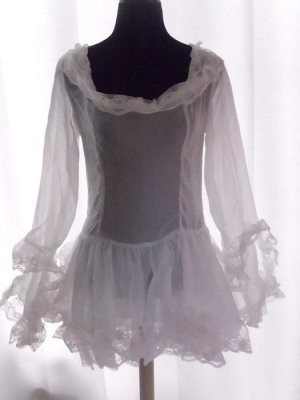 Camicetta lunga bianco Tessuto misto