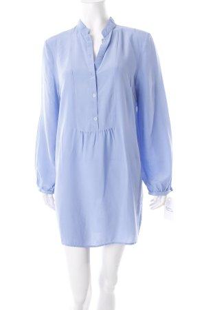 Long-Bluse kornblumenblau schlichter Stil