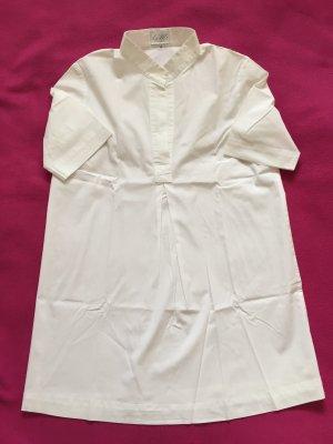 Long Bluse mit kurzem Arm und Stehkragen