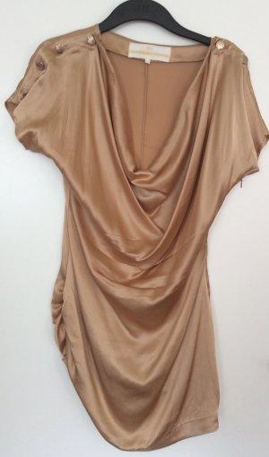 Long-Bluse mit Wasserfallausschnitt