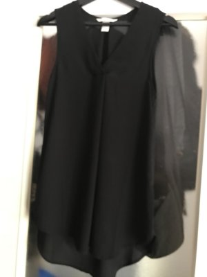 Long Bluse schwarz Größe S
