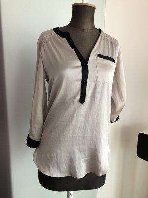 Long Bluse Tunika Gr 34 36 XS S New Look Seiden Optik