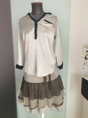 Long Bluse Tunika Gr 36 38 S von New Look Seiden Optik