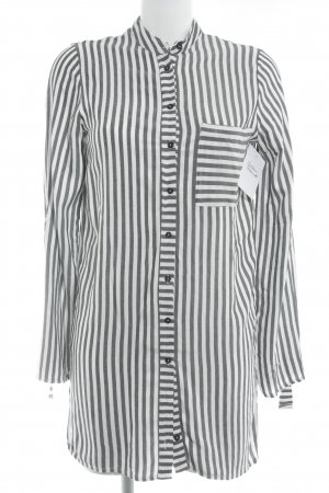 Long Blouse white-anthracite striped pattern casual look