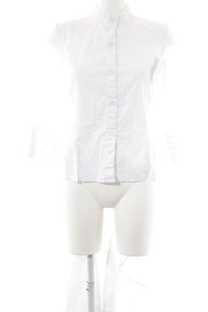 Long-Bluse weiß extravaganter Stil