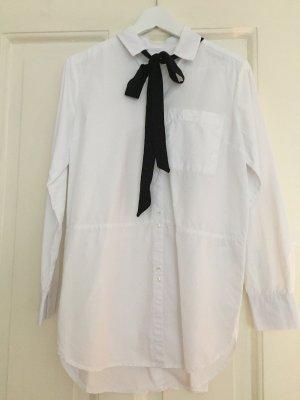 Long-Bluse weiss mit Schleife von EDITED - wie NEU – S