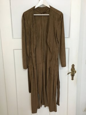 Long Camel Coat Velours Gina Tricot