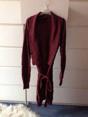 long cardigan bordeaux