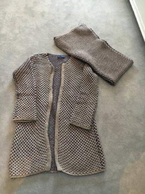 Long Cardigan mit passendem Schal Strenesse Blu