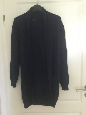 Long Cardigan Vero Moda dunkelblau Angora Wolle