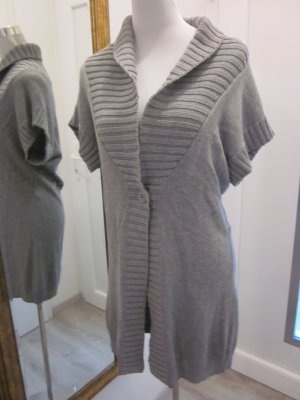 Long Cardigan Weste Grau  Strick Gr L