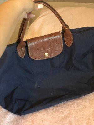 Longchamp Handtas bruin-donkerblauw