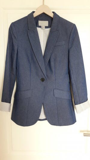 H&M Denim Blazer steel blue cotton