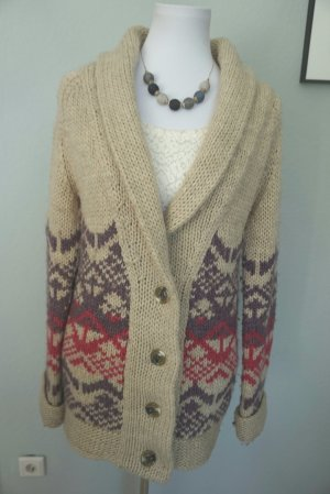 Long fit Cardigan Strickjacke in Gr. 38