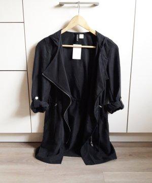 Long Jacke schwarz Gr. 32