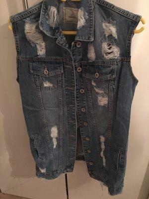 Denim Vest cornflower blue cotton