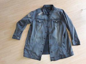 Long Jeansjacke von Zizzi in Größe XL (52/54)