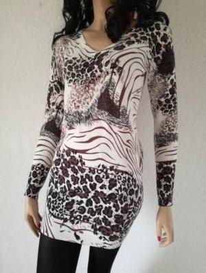 Long Pullover Cashmere Longpullover Pulli Wolle Minikleid Kleid