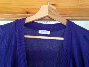 Long-Pullover in dunkelviolett