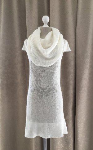 Long Pullover / Kleid mit XXL Kragen