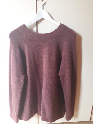 Long-Pullover mit Merino und Alpaka Wolle