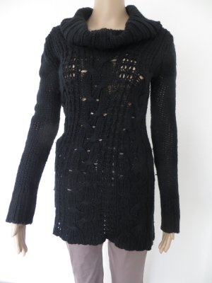 Long Pullover mit Rollkragen