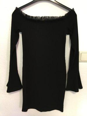 Long-Pullover mit Rüschenkragen Casual-Look