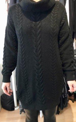 Long Pullover Strickleid Gr. S Oversize schwarz