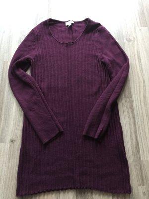Long Pullover / Strickpulli lila von Peter Hahn