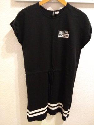 H&M Shirt Dress white-black