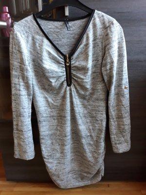 Long Shirt grau meliert