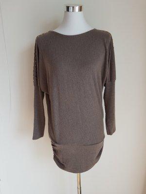 Lang shirt grijs-bruin