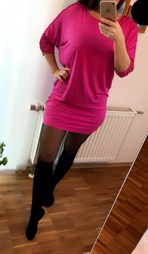 Long Shirt Kleid S Fuchsia Heine