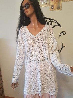 Maglione oversize bianco