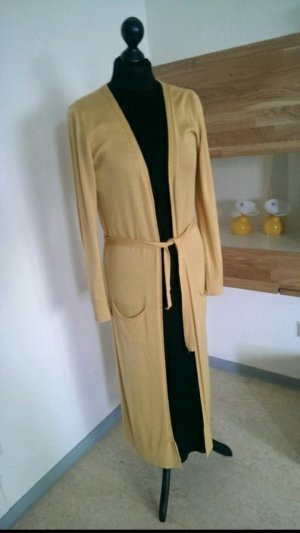 Long Strickjacke in Senfgelb Neu ! Gr. S