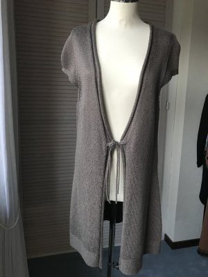 Long-Strickweste von S`Oliver Collection, taupe