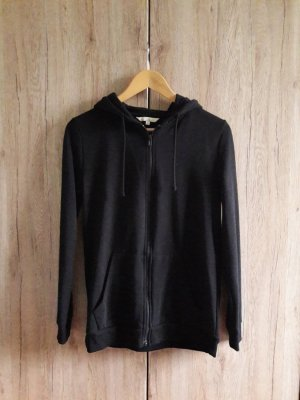 Long Sweat Jacke schwarz Gr. S