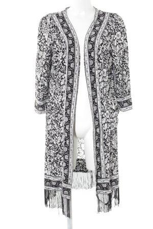 Long Tall Sally Cardigan schwarz-weiß Blumenmuster Boho-Look